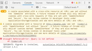 Uncaught ReferenceError: jQuery is not defined